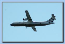Testflight with Aegean's new plane ATR72-212A. Painted 2 weeks earlier.