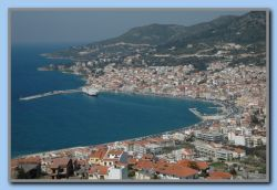 Samos seen from the old windmill above the town