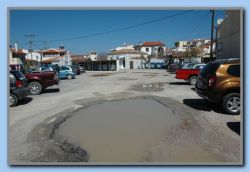 Parking place, Kokkari still needs repair.
