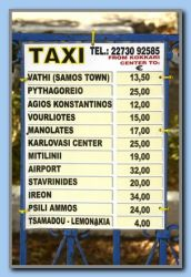 Taxi prices