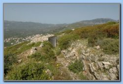 An old fortification (2. W.W.) with underground trenches between the shooting / observation posts.
