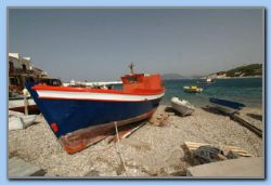 Fishing boat still being painted