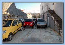 Parked rental cars