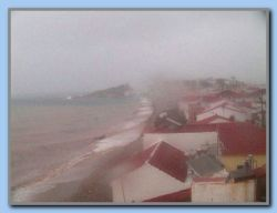 The 'morning picture' from our webcam showed BAD weather.