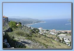 View from the old windmill above Samos town