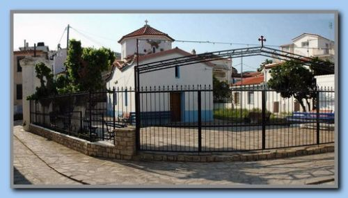 New fence around the small church.