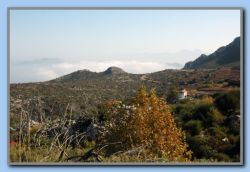 we could look down on the clouds covering Kokkari