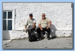 Resting in the heat at ProfElias 1153 m. up and about 25 degree C. in Nov.!!