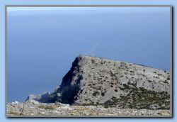 View down to the top visible from Kokkari - now without clouds.