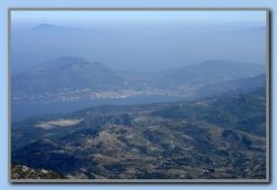 Samos town with Turkey in the background