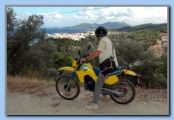 After 4 days work Torben had his first testdrive in the mountains on his 'new' off-roader.